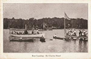 Postcard Boat Landing Sir Charles Hotel Maine