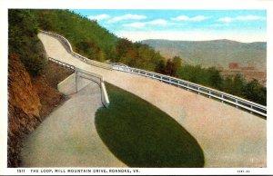 Virginia Roanoke The Loop Mill Mountain Drive Curteich