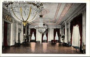 Vtg 1920s East Room White House Washington DC Postcard