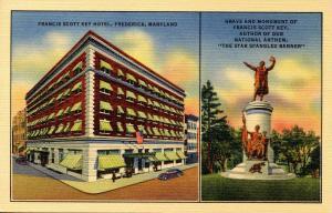 MD - Frederick. Francis Scott Key Hotel & Monument