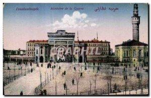 Old Postcard Hi Constantinople Turkey Ministry of War