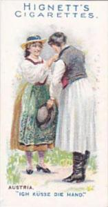Hignett Bros Vintage Cigarette Card Greetings Of The World 1907 No 20 Austria