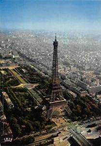 France Paris Vue aerienne de la Tour Eiffel et du Champ de Mars Tower Panorama