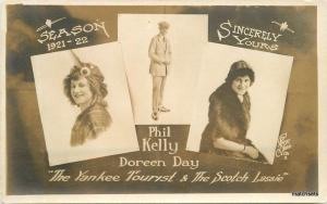 Phil Kelly Doreen Day Vaudeville 1921-22 Yankee Tourist Stage REAL PHOTO 4761