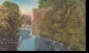 Vermont Manchester View Of Battenkill River Albertype