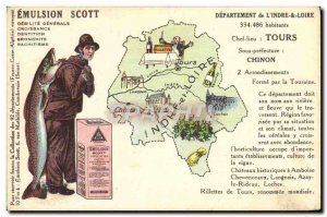 Old Postcard Emulsion Scott Poisson Department Indre et Loire Tours Chinon