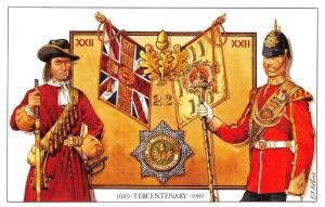 Postcard The 22nd Cheshire Regiment, Tercentenary 1689-1989 by Geoff White