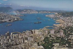 China , Hong Kong , 50-70s ; Central & Eastern Districts from the Peak