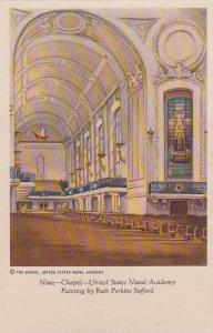 Interior, Nave- Chapel- United States Naval Academy, Painting By Ruth Perkins...