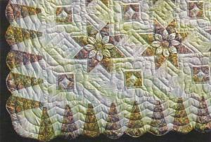 Handcrafted Quilt Three-Dimensial Dahlia Penn Dutch Cottage Crafts Lancaster ...