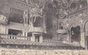 Monaco Monte Carlo Loge du Prince Salle de Concert 1907