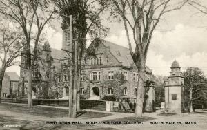 MA - South Hadley. Mt. Holyoke College, Mary Lyon Hall