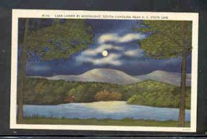 South Carolina colour Lake Lanier by Moonlight near N.C. State Line, unused