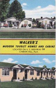 CARBON HILL , Alabama , 30-40s ; Walker's Modern Tourist Homes & Cabins