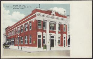 New Security Savings Bank,Boone,IA Postcard