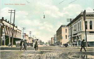 C-1910 Court Street Salem Oregon Postcard Sprouse Son postcard 12516