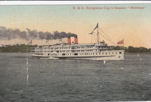 R. & O. Navigation Coy Line Steamship MONTREAL at Sea,  1900-10s