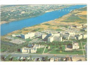 Aerial View of the University of Saskatchewan, Saskatoon, Canada, 40-60s