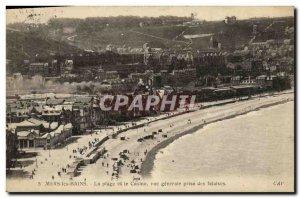 Old Postcard Mers les Bains Beach and the Casino Jack Vue Generale Des Falaises