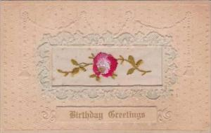 Embroidered Birthday Greetings Flowers