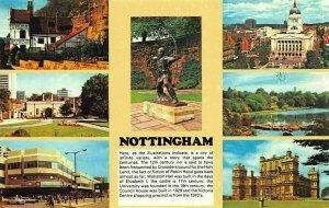 Nottingham Castle Gate Victoria Centre Robin Hood Statue Hall Postcard