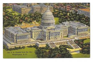 Washington DC Capitol United States Aerial View Linen PC