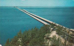 Florida Saint Petersburg Gandy Bridge Looking Westward From Tampa Over Old Ta...