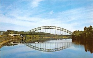 Tyngsboro Bridge over Merrimack River Massachusetts Postcard