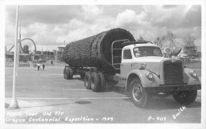 1959 Logging Truck Oregon Centennial Exposition RPPC Photo Postcard Smith 7721