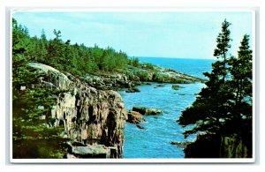 Postcard Schoodic Point, Acadia National Park, Maine ME Z7