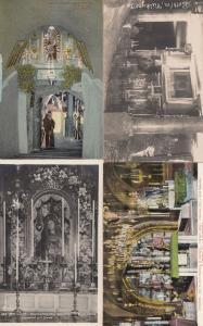 Jerusalem Bethlehem 4x French Religious Old Postcard s