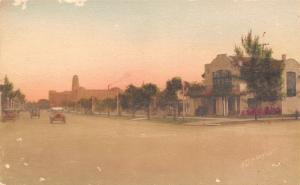 St Petersburg Florida~Beach Drive Past Homes~Vintage Cars~1920s Handcolored PC