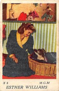 Movie Star Esther Williams M.G.M. Star Gum Works actress, dog
