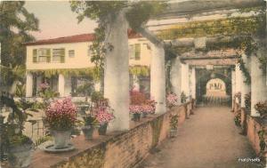1951 Biltmore Montecito Santa Barbara California Albertype hand colored 7932