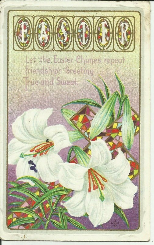 EASTER, Let The Easter Chimes Repeat Friendship's Greeting True and Sweet