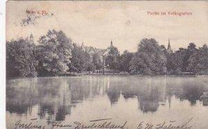 Germany Koeln Partie im Volksgarten 1906