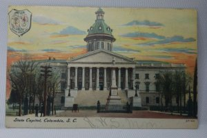 Vintage State Capital, Columbia, SC Postcard Capital Building Dated 1907 USED!