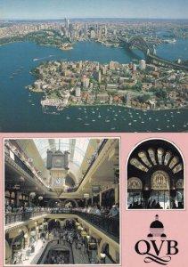 Queen Victoria Building Sydney & Aerial 2x Australia Postcard s