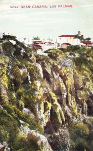 Moya Gran Canaria Village Las Palmas Antique Postcard