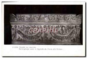Old Postcard Musee Du Louvre Sarcophagus with the Legend of Diane and D & # 3...