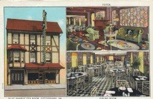 GETTYSBURG , Pa, 1910s ; Blue Parrot Tea Room, split views