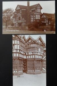 Cheshire 2 x MORTON OLD HALL - Old RP Postcard