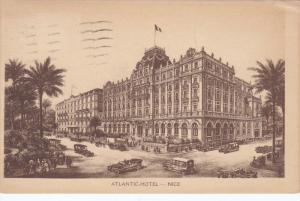 NICE, Alpes Maritimes, France, PU-1925; Atlantic Hotel, Classic Cars