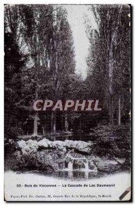Old Postcard Bois de Vincennes The Cascade Lake Daumesnil