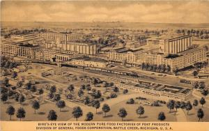 Battle Creek Michigan~General Foods Corp (Post Products) Factory Aerial View~'39