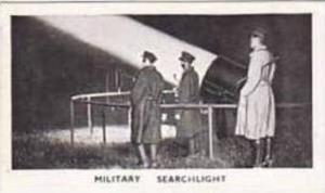 Rothman Vintage Cigarette Card Modern Inventions 1935 No 38 Military Searchlight