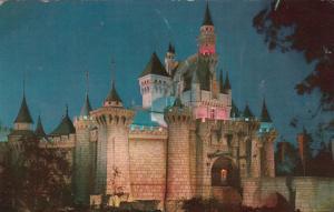 DISNEYLAND, California, PU-1961; Sleeping Beauty's Castle at night
