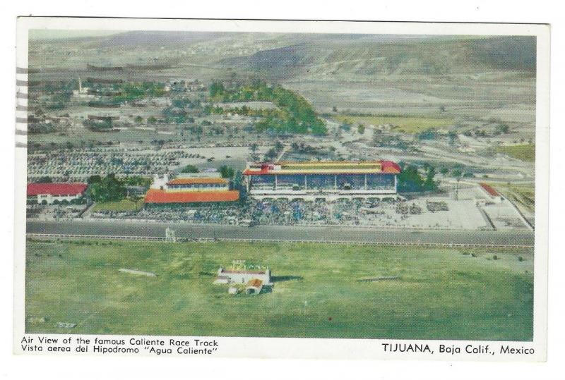 1955 Mexico/USA Picture Postcard - Caliente Race Track, Tijuana, Mexico (NN12)