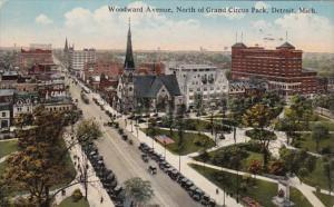 Michigan Detroit Woodward Avenue North Of Grand Circus Park 1917 Curteich