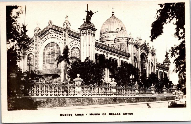 Buenos Aires, Museo de Bellas Artes, Art Museum Vintage Photo Postcard H22